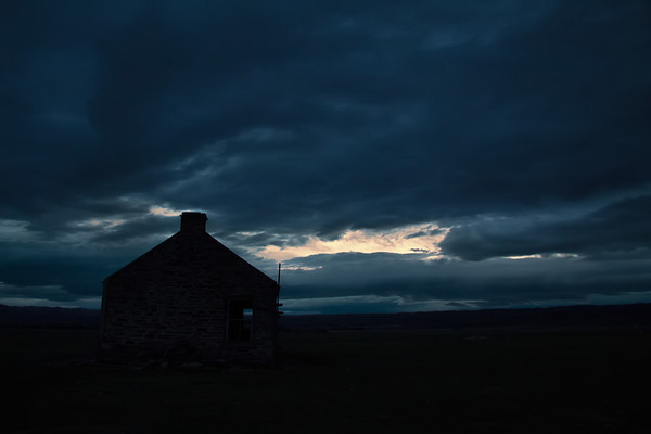 Stone Cottage in Winter Morning