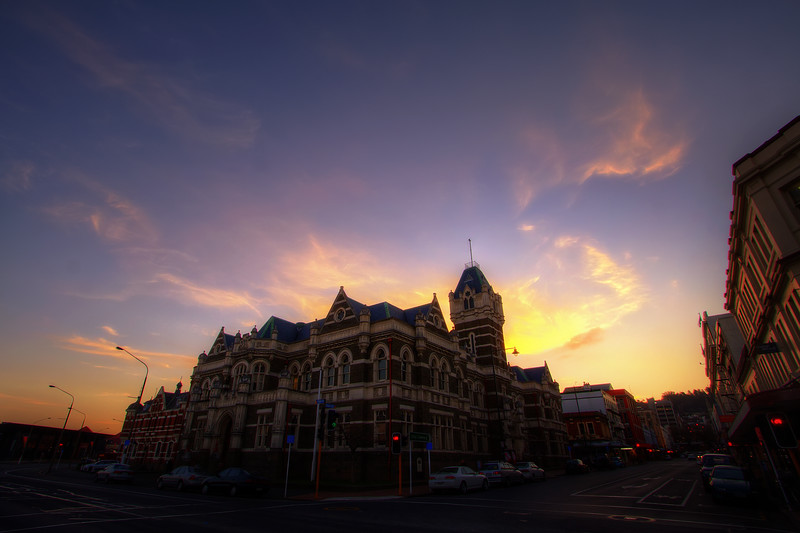 Law Courts at Sunset<br /> Dunedin - 2014<br /> <br /> .<br /> .<br /> .<br /> _______________________________________<br /> © John Caswell - (CC BY-NC-ND 4.0)<br /> Framed Limited Edition Work Available.<br /> <br /> Purchase Description:<br /> Large Framed Image; limited Edition of 10.<br /> White mounted print with black frame in glass.<br /> Frame size: 820mm x 620mm (print size 700mm x 500mm)<br /> Titled, numbered and signed.<br /> <br /> Small Framed Image; limited Edition of 20.<br /> White mounted print with black frame in glass.<br /> Frame size: 580mm x 420mm (print size 460mm x 300mm)<br /> Titled, numbered and signed.<br /> <br /> Contact me for pricing and further details: john@caswellimages.com<br /> Please allow up to 21 days for delivery.