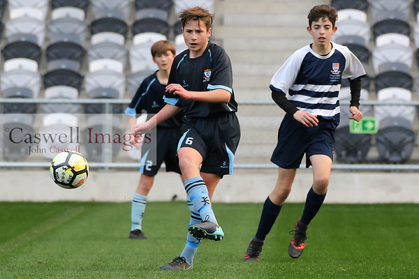 School Football; Junior Premier Final: Kings Junior 1st XI v Otago Boys High School 10 Blue (15.08.18)