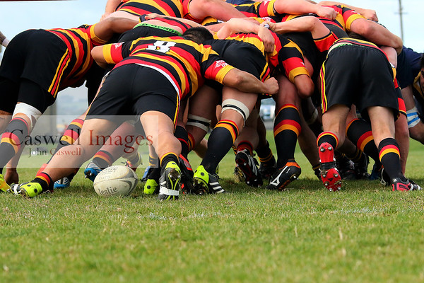Action from the match between Dunedin Premier 2 and Zingari Richmond Premier 2 played at Kettle Park on Saturday May 23rd 2015. Dunedin Club Rugby, Premier 2 grade.