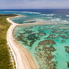 Coral and Beach Cat Island Aerial