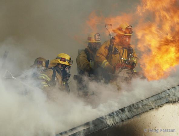 La County Fire Department training, La Canada, Sunday Feb 11th, 2007