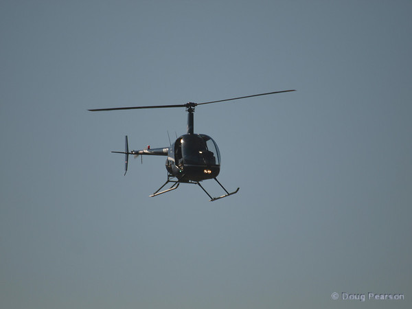 N91AV a Robinson R44 on approach to Hansen Dam for American Heroes Air Show 2012.