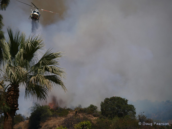 LA County Copter 12 dropping water