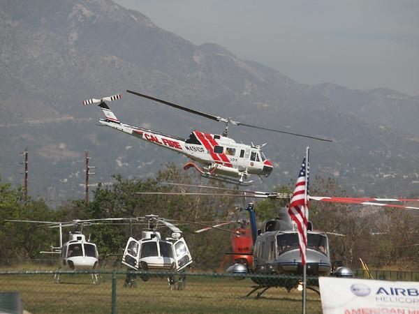 N491DF leaving the 2014 AHAS Los Angeles