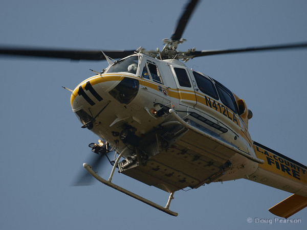 LA County copter 11 at Hastings IC, July 18, 2008