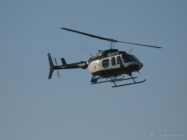 N6197N, Bell 206-L4 used by CHP on approach to Hansen Dam for American Heroes Air Show 2012.