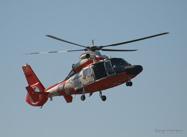 USCG 6584 on approach to Hansen Dam for American Heroes Airshow 2012.