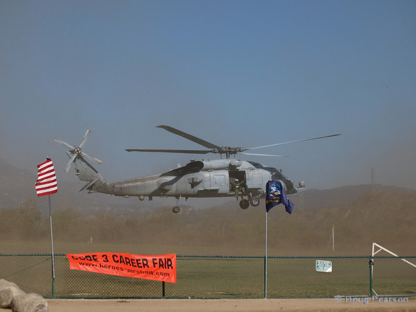 US Navy Seahawk from HSN-41departing American Heroes Air Show 2010