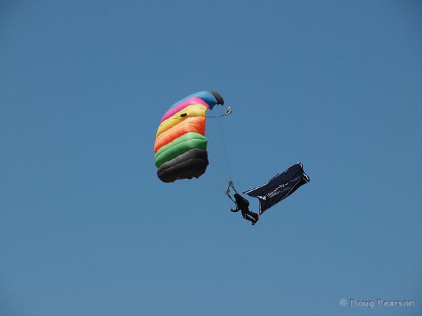 Parachutists arrive, number 2
