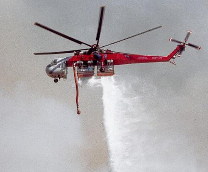Copper Fire, ANF / LA County Fire, Skycrane