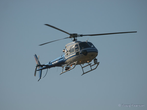 Ontario Police Helicopter N30NTa Eurocopter AS350B2 arriving at Hansen Dam for American Heroes Air Show 2010