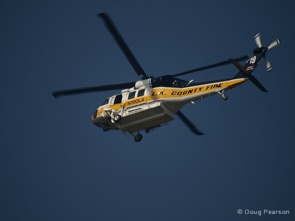 LA County copter 19 at Hastings IC, July 18, 2008