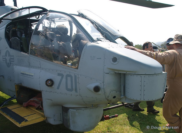 A view of the cockpit on Helicopter 701, 2008 Heroes Airshow, Hansen Dam, Los Angeles