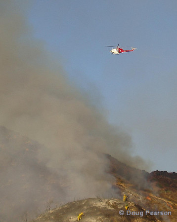 LA City Fire 4 scouting for a drop on the fire