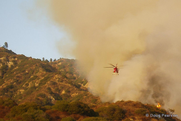 LA City Fire 4 prepares for a drop on the fire