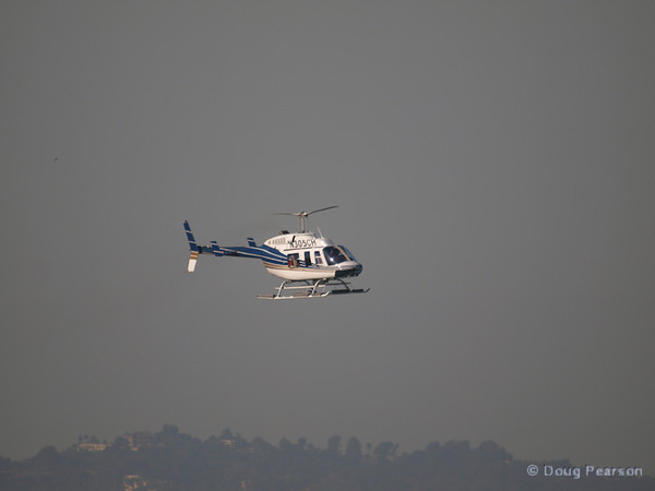 N305CH, a Bell    206L-1 on aproach to Hansen Dam for American Heroes Air Show 2012.