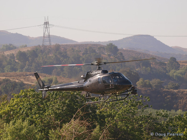 KTLA Sky 5, N925TV landing at Hansen Dam.