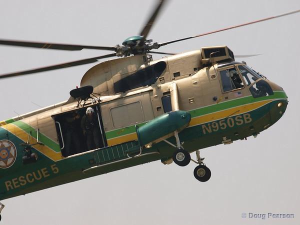 LA County Sherrif Rescue 5 at 2008 Heroes Airshow, Hansen Dam, Los Angeles