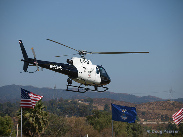 LAPD helicopter N662PD leaving American Heroes Air Show 2010