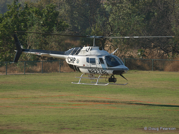 CHP Helicopter N82786 arriving at Hansen Dam for American Heroes Air Show 2010