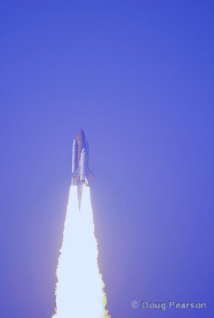 Discovery launches on STS-133