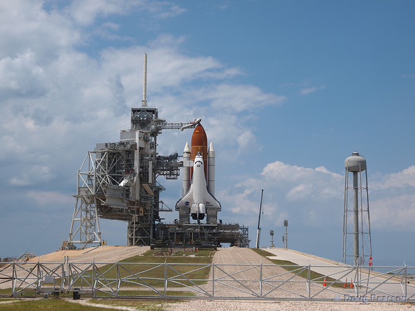 Space Shuttle Endeavour (OV-105) on launch pad 39A ready for flight STS-134 to the ISS.