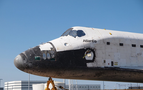 Ready for her closeup, Space Shuttle Atlantis (OV-104) is being towed from the OPF to the VAB in preperation for STS-135