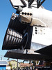 A unique close up of Endeavour's engines as she parades through Los Angeles