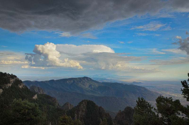 South Peak Monsoon Clouds (From North Peak)