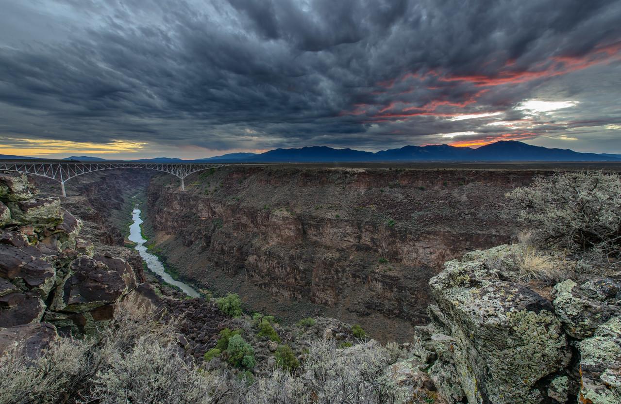 Red Dawn at Rio Grande Gorge