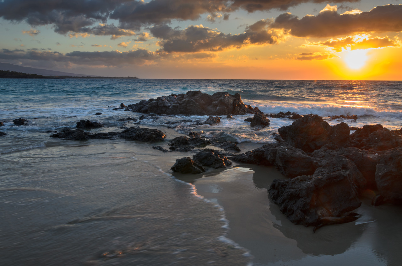 Hapuna Lava Rock Sunset