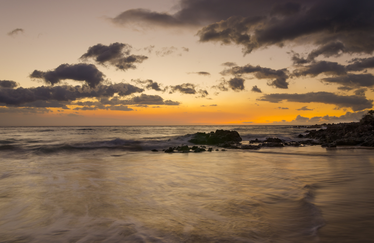Dusk at Hapuna Beach