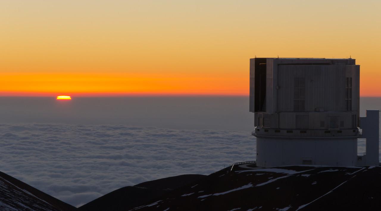Subaru Sunset on Mauna Kea