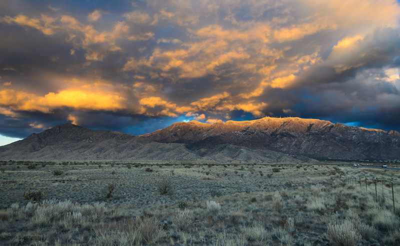 Sandia Sunset Snow & Clouds