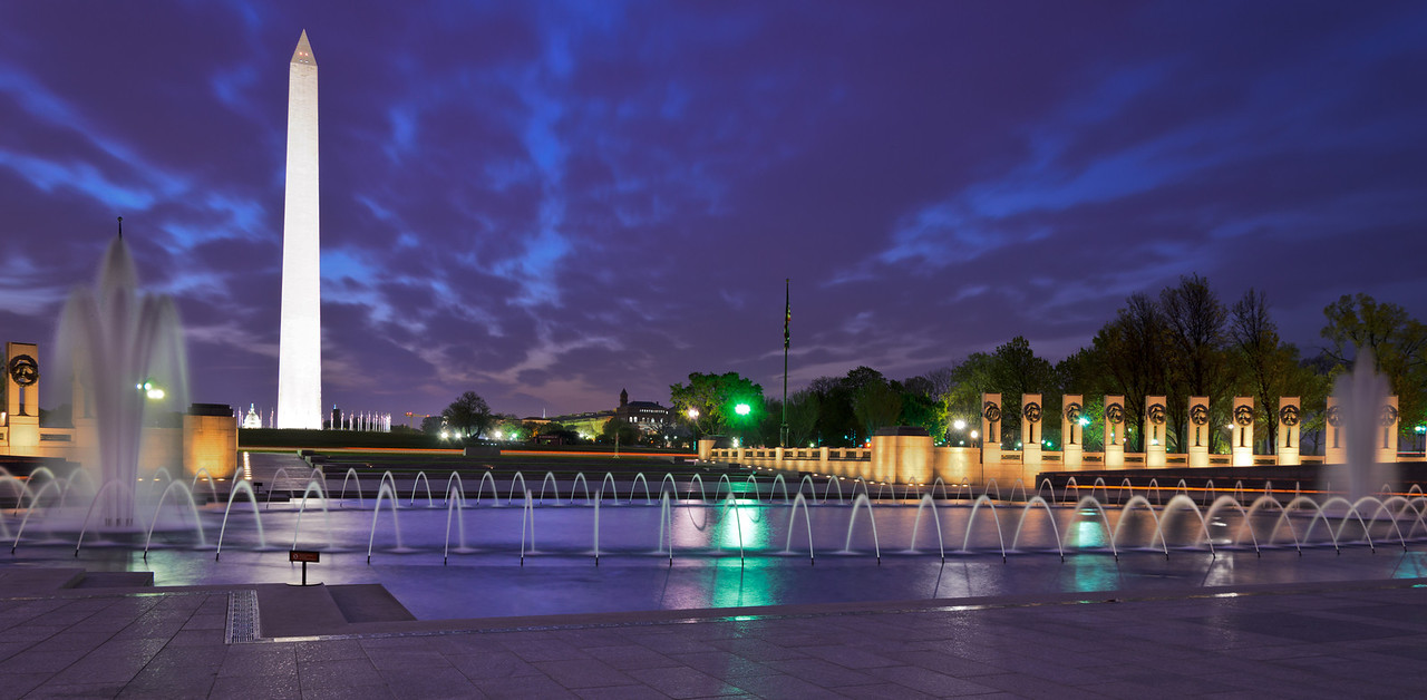 WWII Memorial Serene Fountain