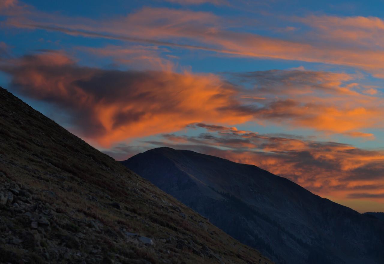 Mt Wheeler Orange Clouds