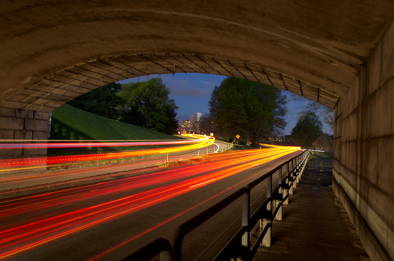 GW Parkway Lights Under Memorial Bridge