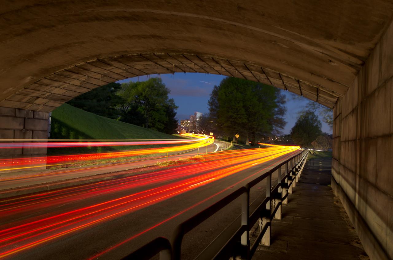 GW Parkway Lights Under Memorial Bridge