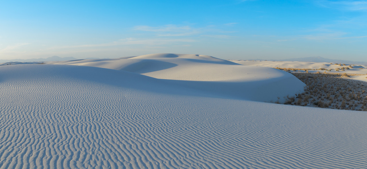 Flowing White Dunes