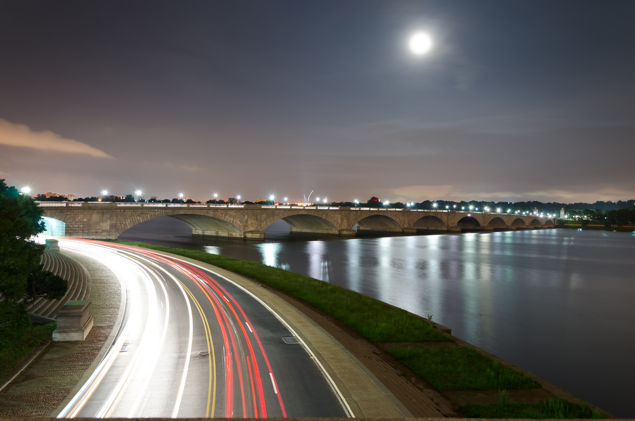 Full Moon over Memorial Bridge