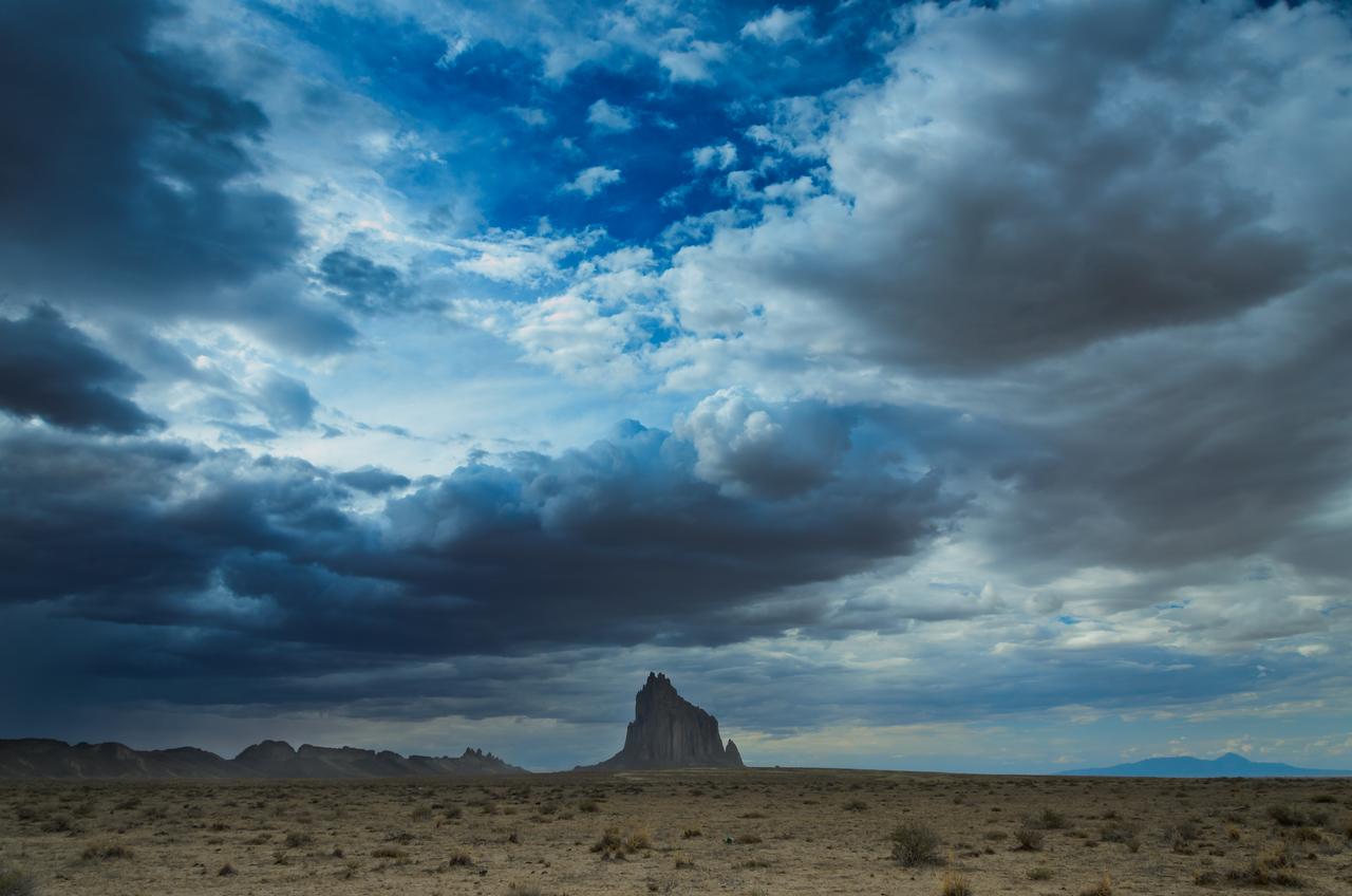 Shiprock Storm Clouds