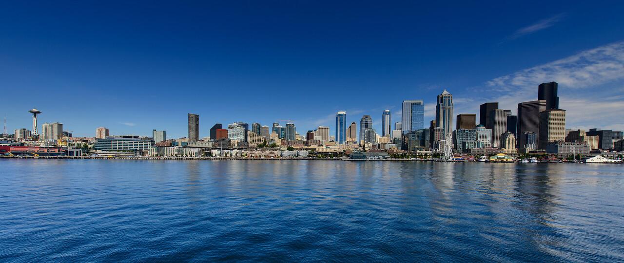 Seattle Skyline from Bainbridge Ferry