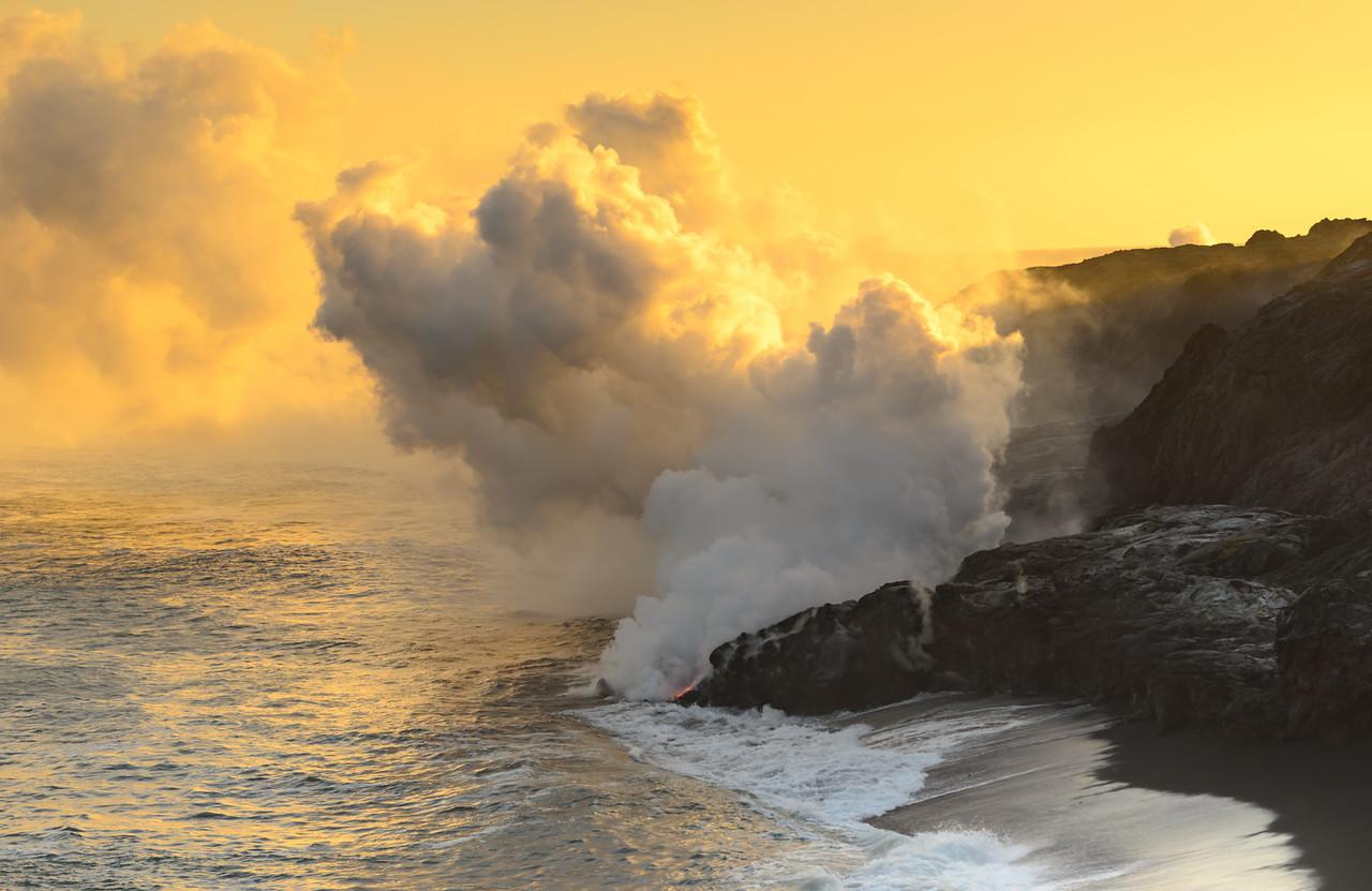Lava Plume Sunset
