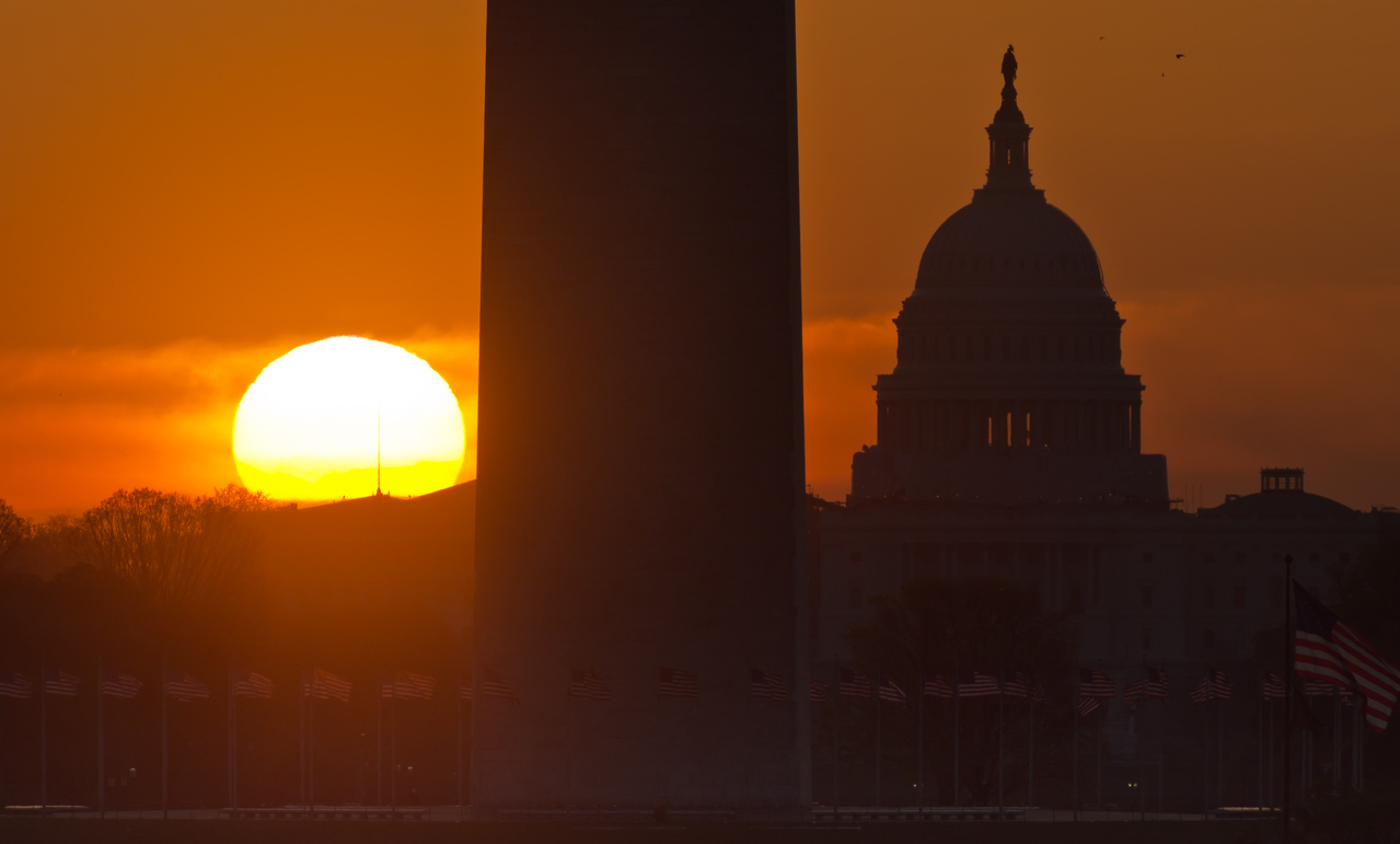 Capitol Hill Sunrise (from Lincoln Memorial)