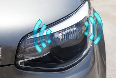 tag on headlight