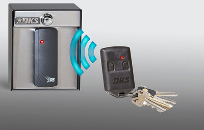 RF clicker and keys with card reader