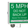 sign- do not back up - green