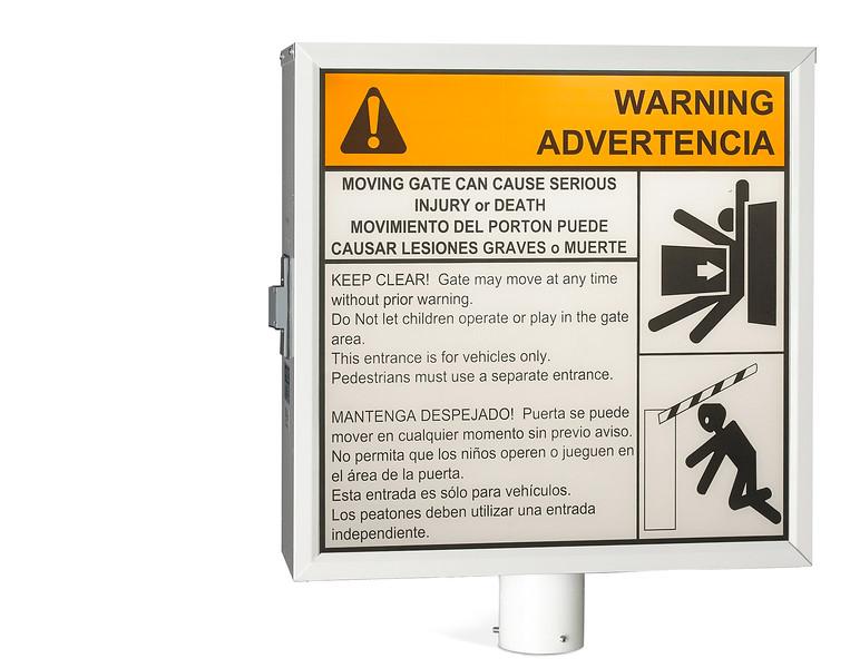 sign- gate warning