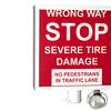 sign- wrong way - red